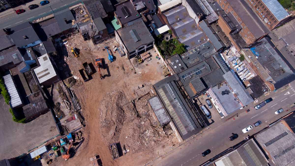The Lamp Works: Demolition Progressing